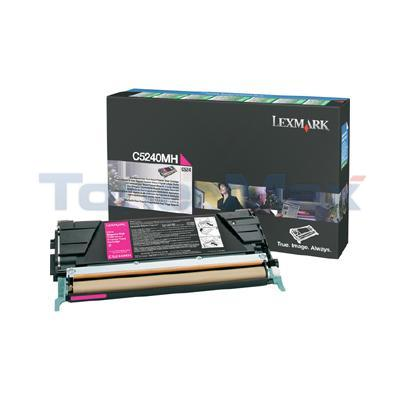 LEXMARK C524 C532 TONER CARTRIDGE MAGENTA RP 5K